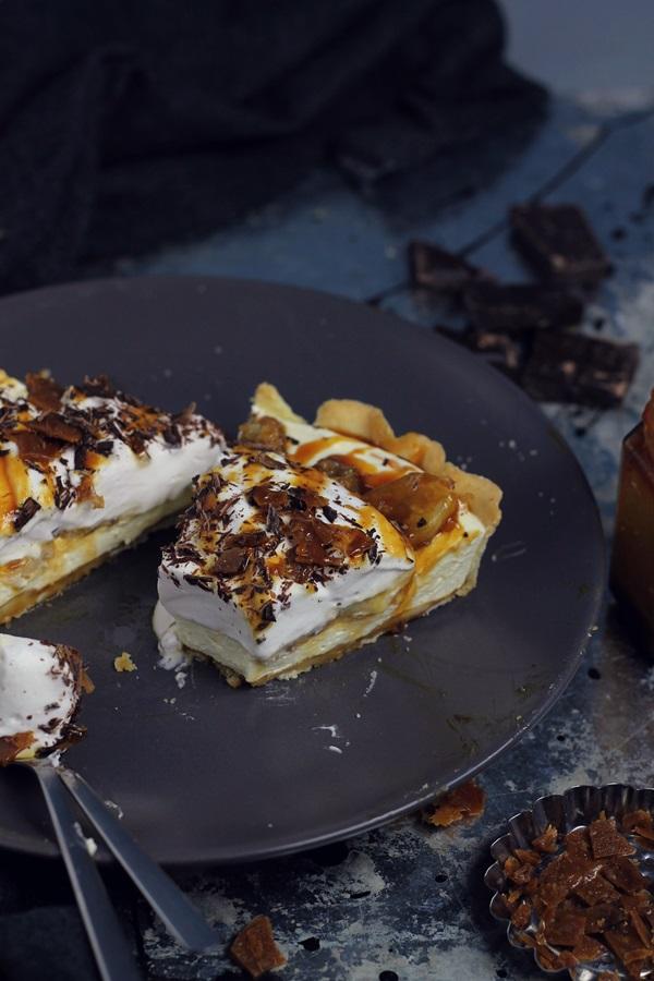 tarta cu banane si caramel