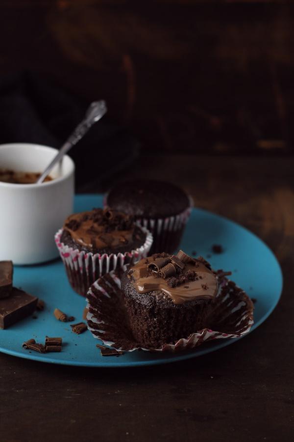 muffins de cacao