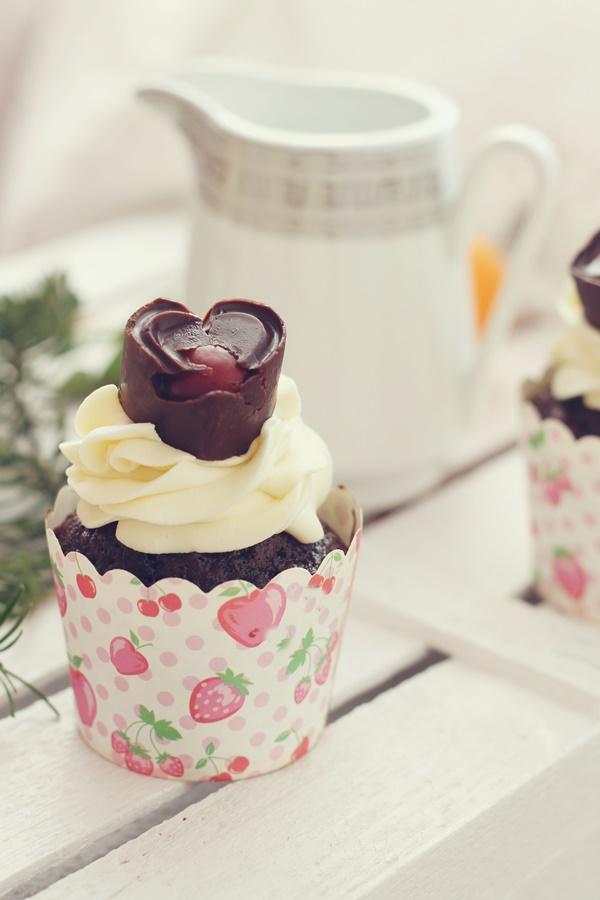 cupcakes cu ciocolata alba